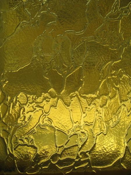Стекло узорчатое Дельта желтая