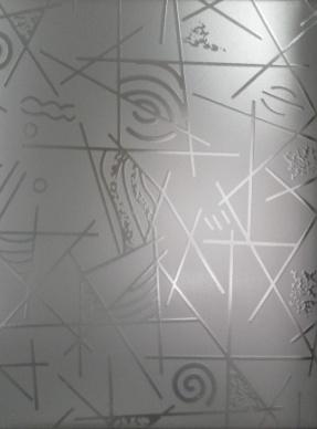 Стекло матированное узорчатое Геометрия