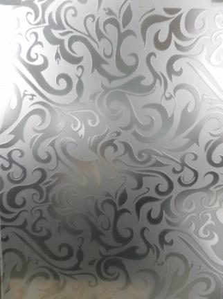 Стекло матированное узорчатое Дамас